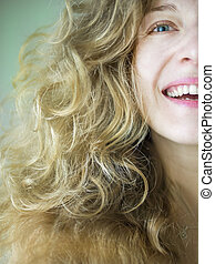 A blondy girls portrait - A young blondy blue-eyed girls...