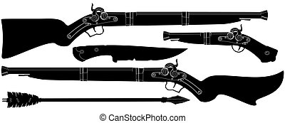 set of ancient weapons