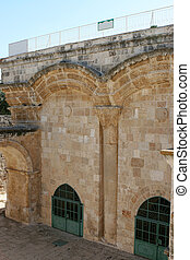 Eastern Gate on Old City Wall of Jerusalem
