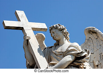 Angel Statue - Angel in front at Castel Sant\'Angelo, Best...