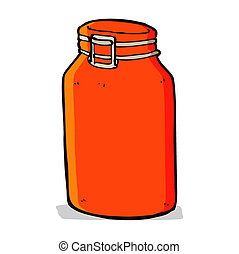 cartoon glass jar