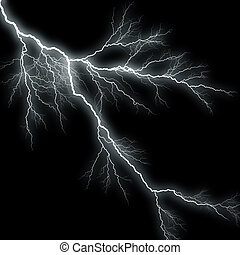 Lightning Background - Bolts of lightning isolated over a...