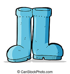 cartoon rubber boots