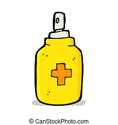 cartoon antiseptic spray