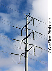 High Power Electric Lines - High power electric lines are...
