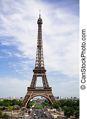 The Eiffel Tower. Spring time