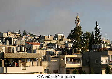 Home Rooftops In Bethlehem, Israel - Palestinian homes in...