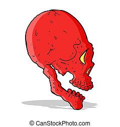 red skull illustration