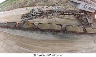 """Sand mining excavator """"Takraf Ers 710"""" in Moscow region,..."""