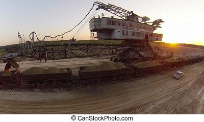 "Sand mining excavator ""Takraf Ers 710"" in Moscow region,..."