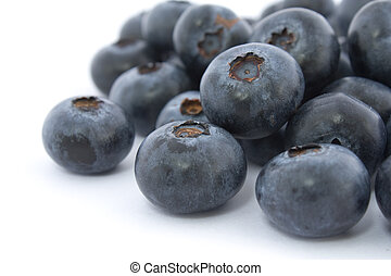 A pile of fresch blueberries