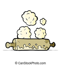 cartoon rolling pin