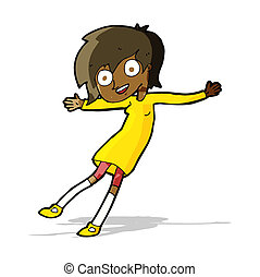 cartoon crazy excited girl