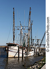 Shrimp Boats - Shrimp boats docked at Apalachicola, FL.