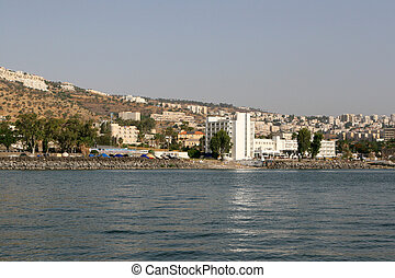 The City of Tiberias by the Sea of Galilee, Israel - The...