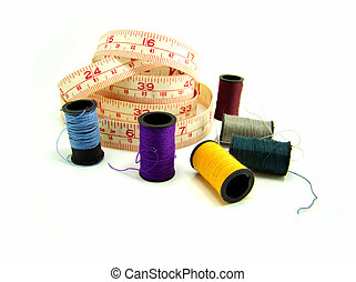 set of thread and metric tape