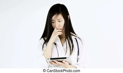 Stressed out asian doctor