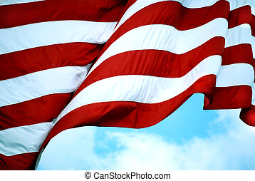 American Flag Stripes - Red and white stripes of the...