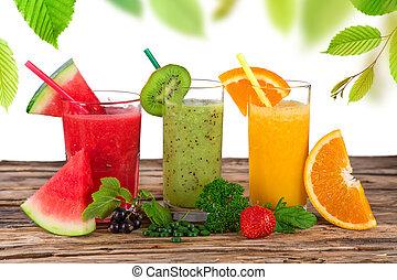 fresco, fruta, suco, saudável, bebidas