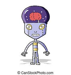 cartoon weird robot