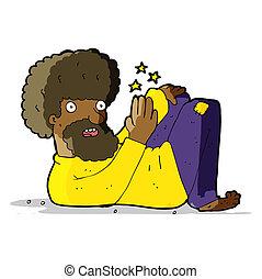 cartoon hippie man