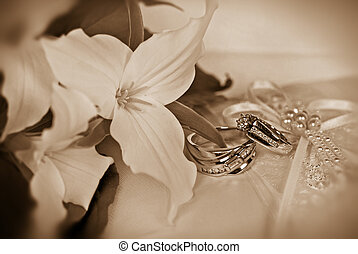 Diamonds Are Forever - Trillium bridal bouquet with wedding...