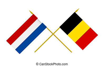 Flags, Netherlands and Belgium - Flags of Netherlands and...