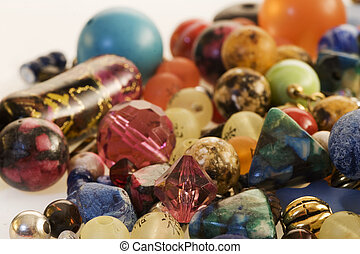 fancy beads - many colorful fancy glass beads
