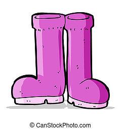 cartoon rubber boots