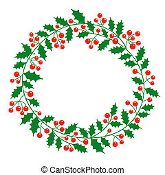 Christmas wreath with place for your text Vector...