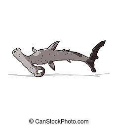 cartoon hammerhead shark