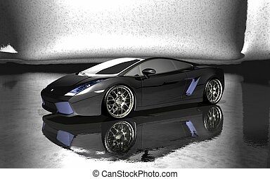 sports car - quality 3d render of a sports car
