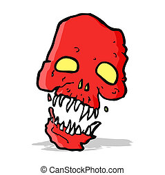 cartoon scary skull