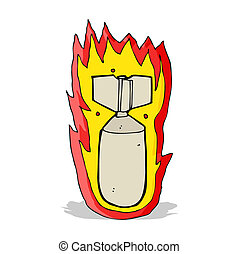 cartoon flaming bomb