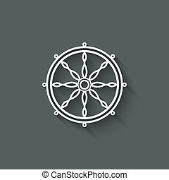 dharma wheel design element - vector illustration. eps 10