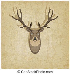 deer old background - vector illustration eps 10
