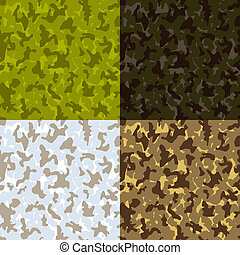 Camouflage seamless pattern - vector illustration. eps 8