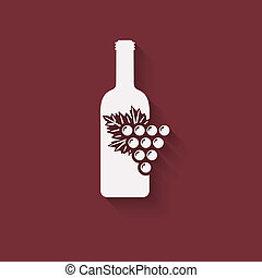 grapes wine design element