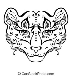Tiger tattoo. - Tattoo tigress in decorative style. Vector...