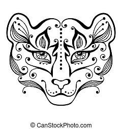 Tiger tattoo.