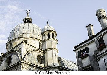 Santa Lucia church Venice. Exterior