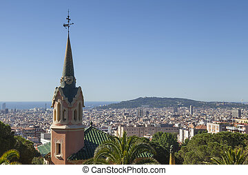 park guell in the city of barcelona