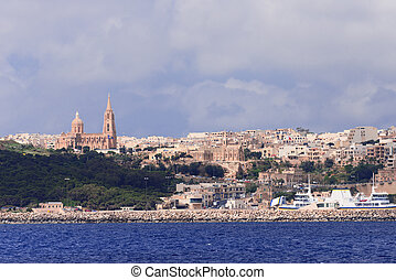View on city Mgarr Malta - View on city Mgarr on the small...