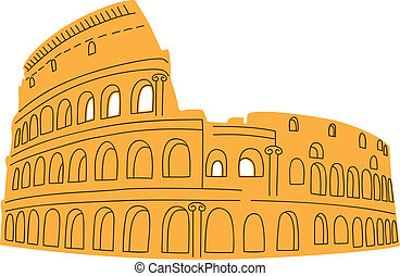 Colosseum isolated on white. - Summertime Europe vacations...