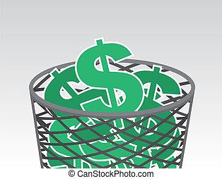 Garbage Dollar Signs