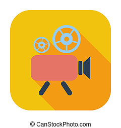 Videocamera Single flat color icon Vector illustration