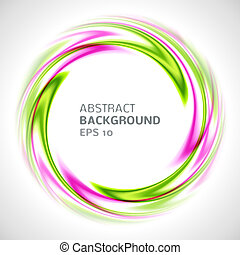 Abstract green and pink swirl circle bright background