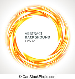 Abstract orange and yellow swirl circle bright background....