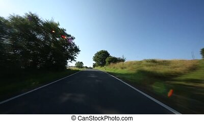 Timelapse P.O.V. On Highway - timelapse video footage from a...