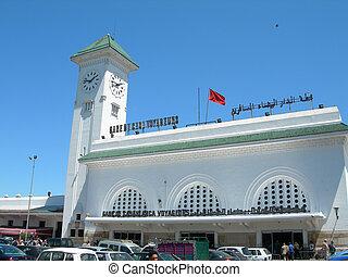 casa voyageur train station casablanca morocco - CASABLANCA...